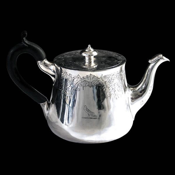 Antique English Victorian Silver Teapot
