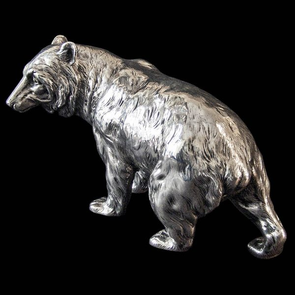 Antique Silver Bear