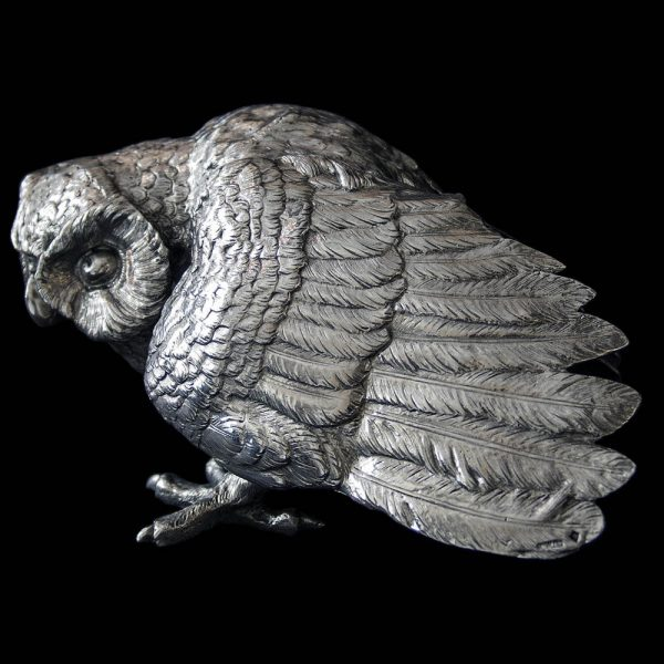 Antique Sterling Silver Owl