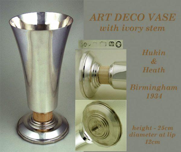 Antique Silver Art Deco Vase