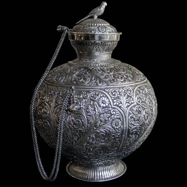 Large Indian Antique Silver LOTA (Water) Jar