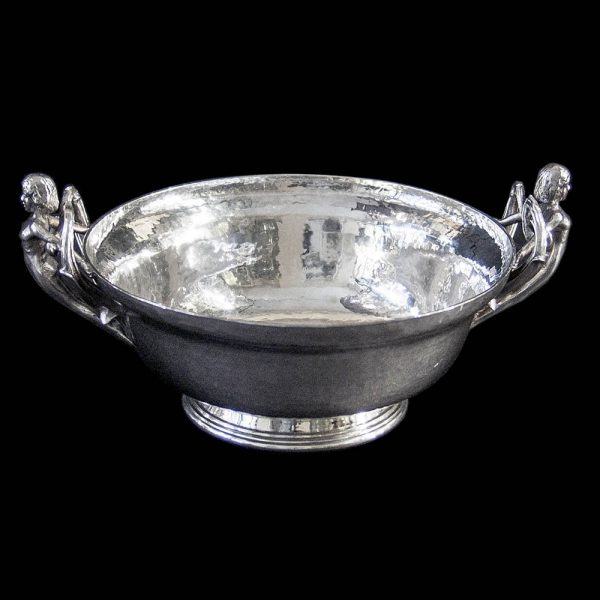 Omar Ramsden Hand Hammered Silver Bowl