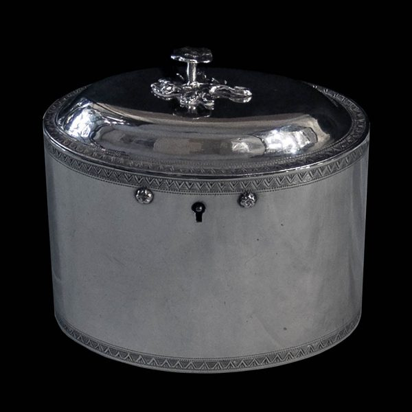 Antique English York Silver Tea Caddy