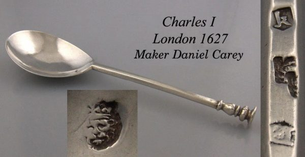 Antique Silver Charles I seal top spoon