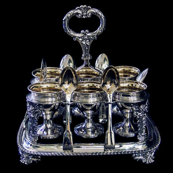 Geo IV Antique Silver Egg Cruet