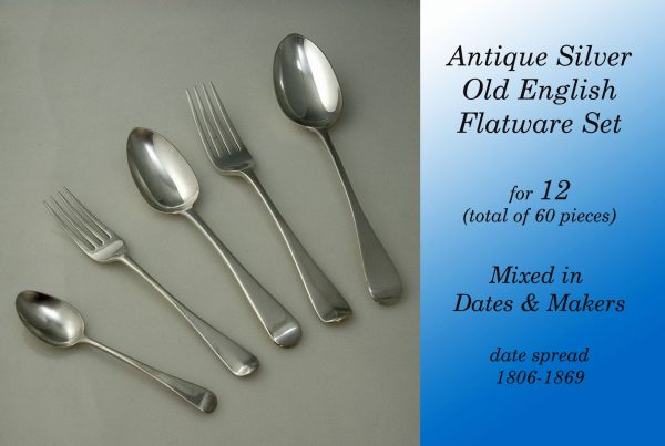 Flatware Antique Silver Old English Canteen