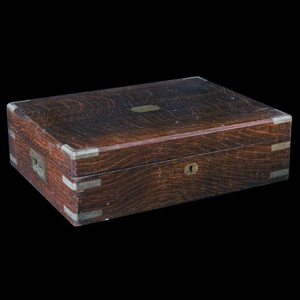 Brass Bound Oak Canteen Box