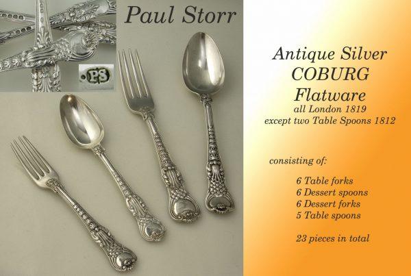 Flatware Antique Silver Coburg Canteen