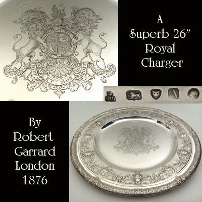 Antique Silver Charger