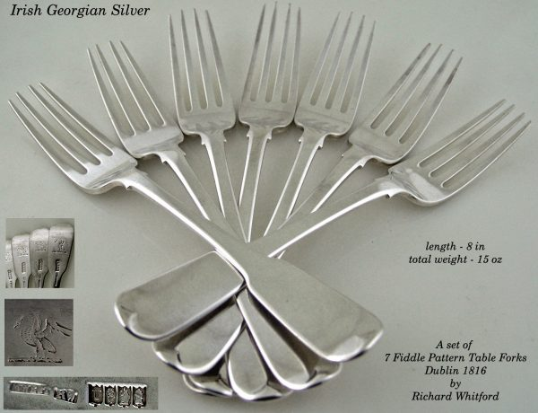 Antique Silver  Irish Table Forks
