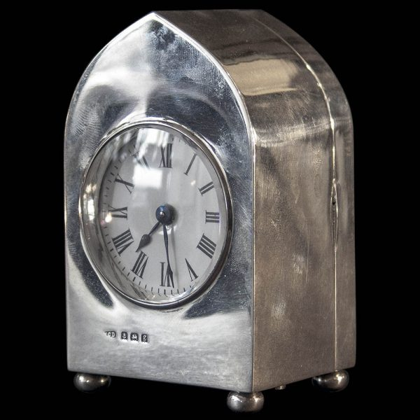 Edwardian Silver Cased Carriage Clock