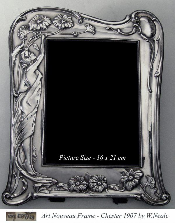 Antique silver Art Nouveau Photograph Frame
