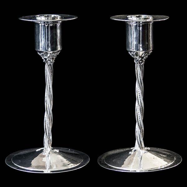 Pair of Charles Boyton Silver Candlesticks