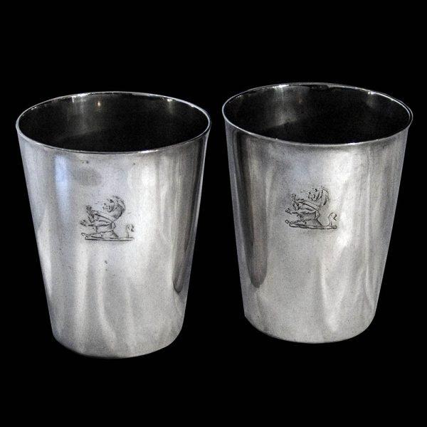 Pair Georgian Silver Beakers