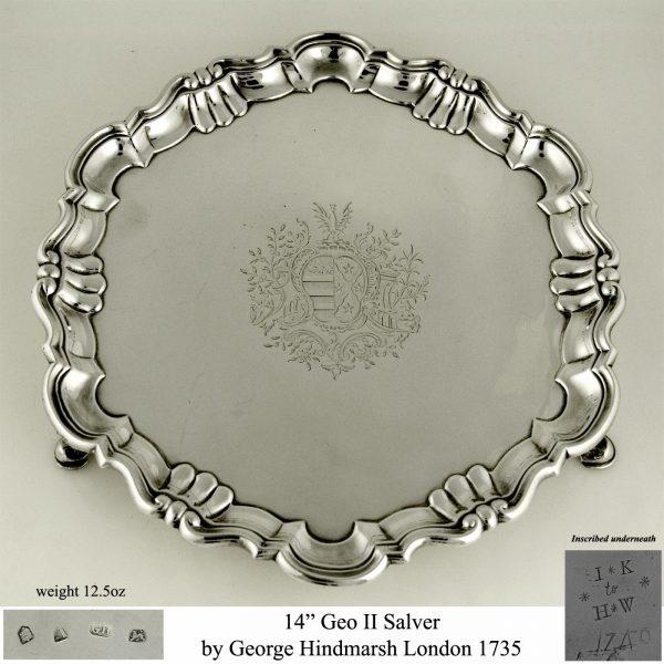 aa Antique Silver Salver