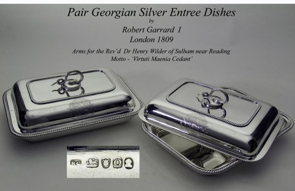 A London Pair of Antique Silver Entreé Dishes