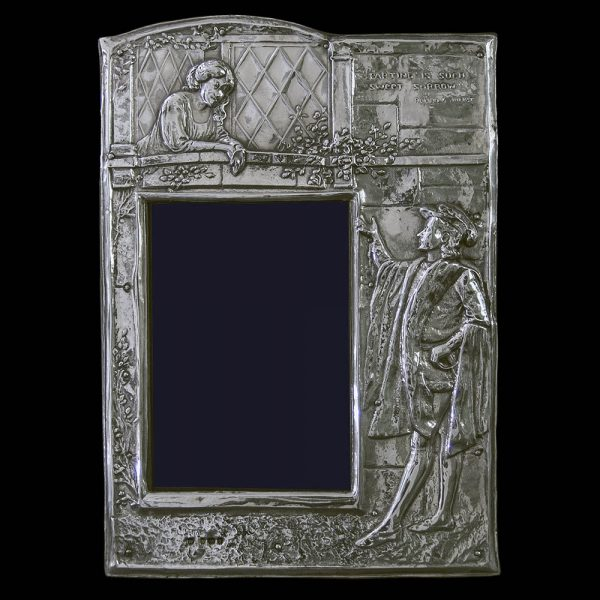 """Edwardian """"ROMEO and JULIET"""" Sterling Silver Photograph Frame"""