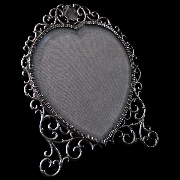 Edwardian Silver Heart Shaped Photograph Frame
