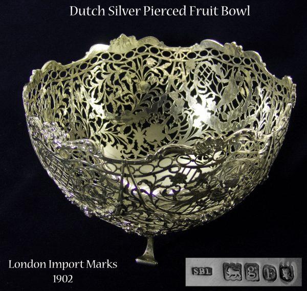 Antique Silver Fruit Bowl