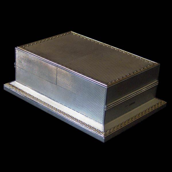 Asprey Silver Playing Card Box