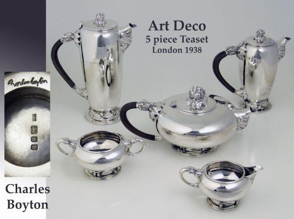 Antique silver Art Deco Teaset