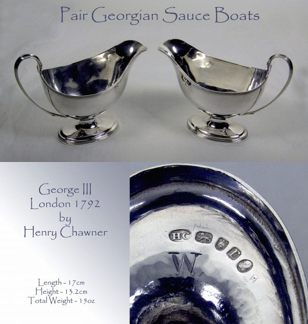 Antique Silver Sauce Boats