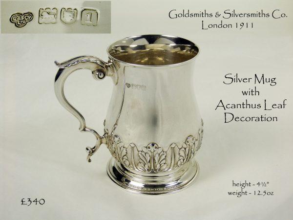 Antique Silver Mug