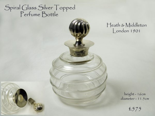 Antique Silver Topped Perfume Bottle