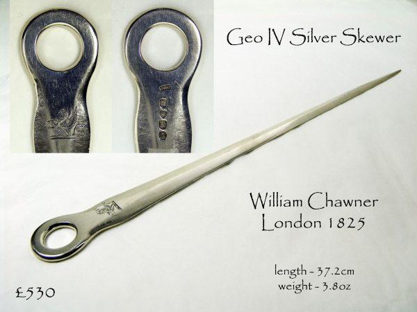 Antique Silver Skewer