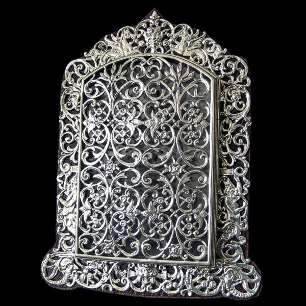 Unusual Victorian Silver Photograph Frame