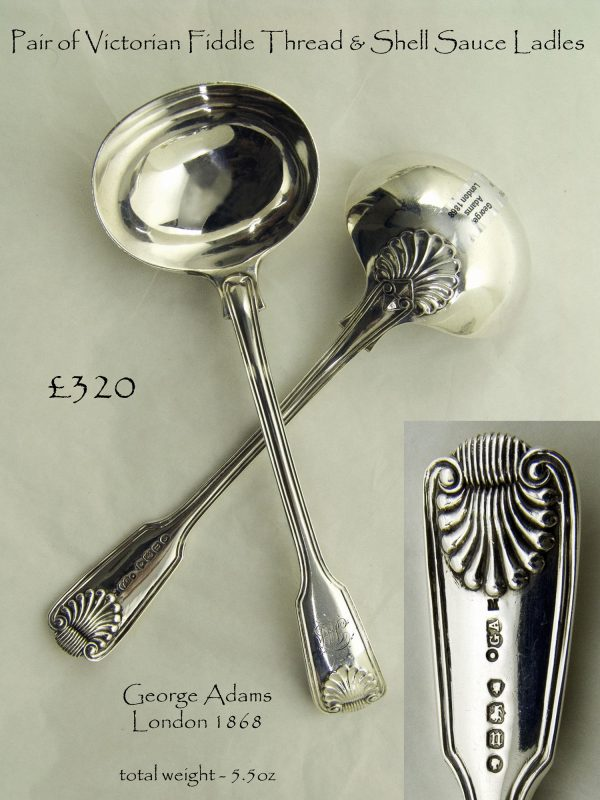 Antique Silver Sauce Ladles