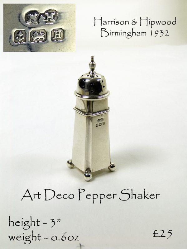 Antique Silver Pepper Shaker