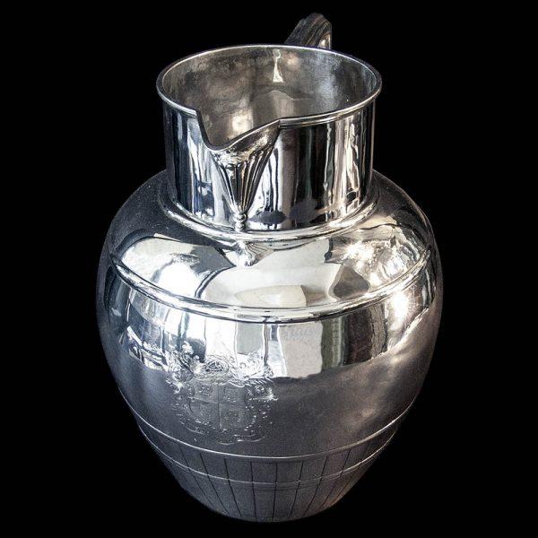 Victorian Silver Water Jug by Charles Stuart Harris