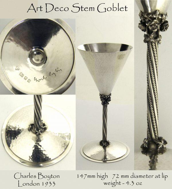 Antique Silver Coblet