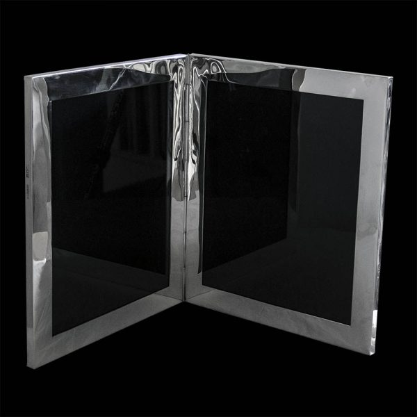 Large Silver Double Photograph Frame