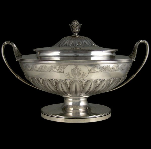 Antique silver superb George III  Neo-classical soup tureen