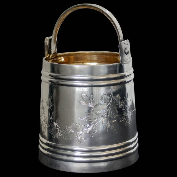 Russian Silver Ice Pail