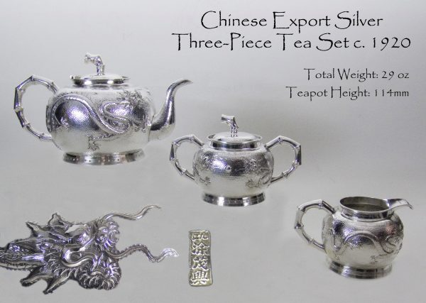 Antique Chinese Export Silver Teaset