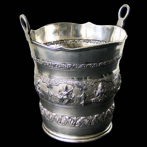 An Indian Silver Ice Pail