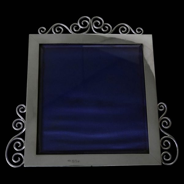 Plain Victorian Silver Wire Work Photograph Frame
