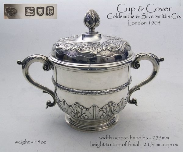 Antique Silver Cup & Cover