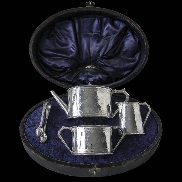 Victorian Silver Tea Set in Presentation Box