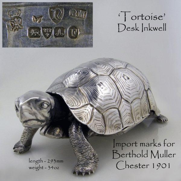 Antique Silver Tortoise