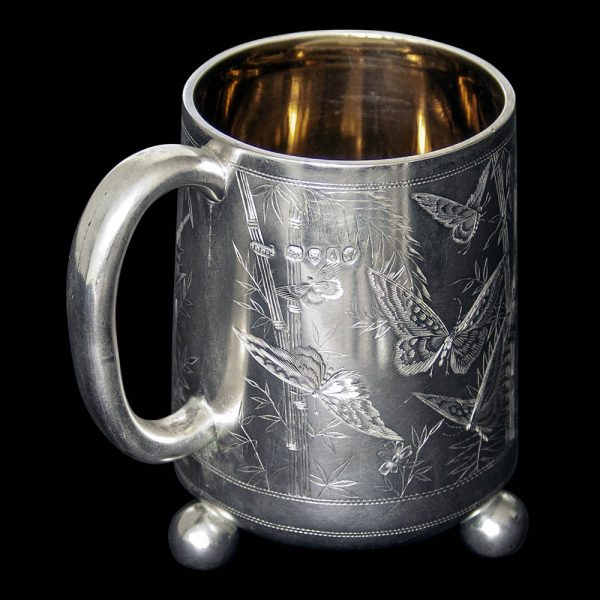 Victtorian Silver Aesthetic Movement Mug