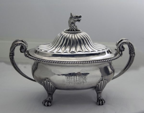 Antique Silver Sauce Tureen