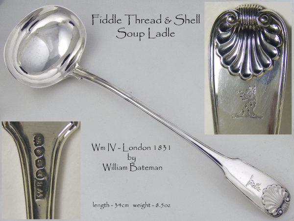 Antique Silver Soup Ladle