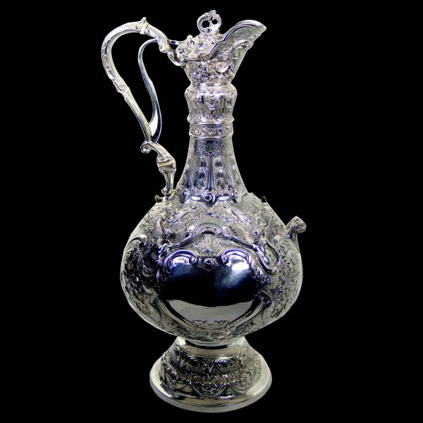 Antique Silver  Wine Jug
