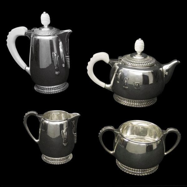 English Silver Deco Teaset