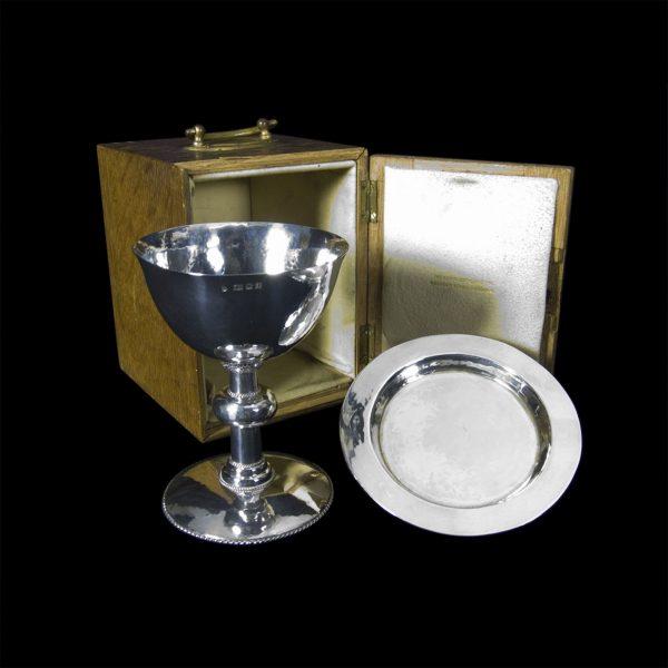 English Silver Chalice & Paten