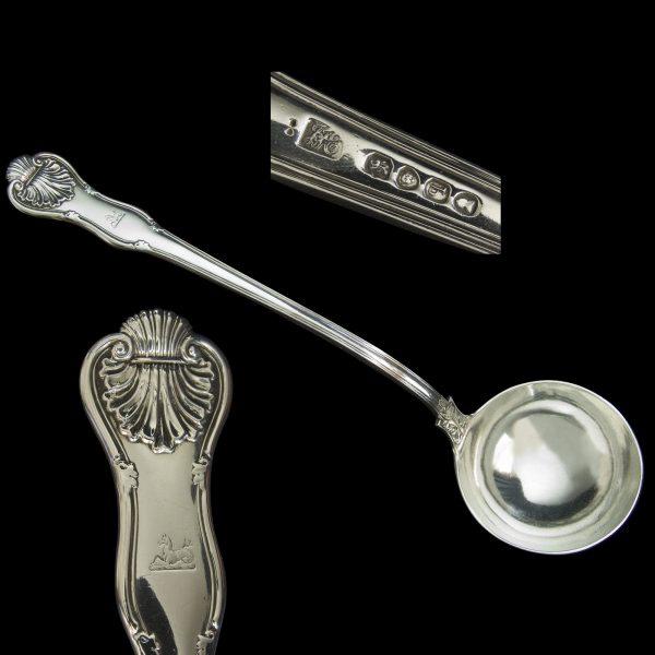 English Silver Antique Soup Ladle